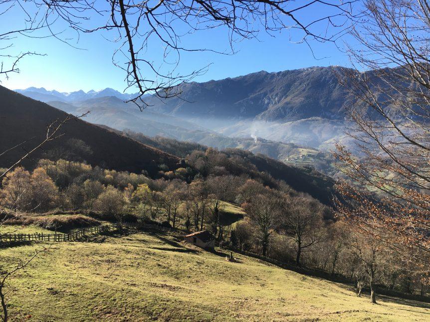 Vista de la Sierra del Aramo desde las cercanías del Pico La Carba (Cordal de La Cuba, Riosa, Valle de La Xuncar)