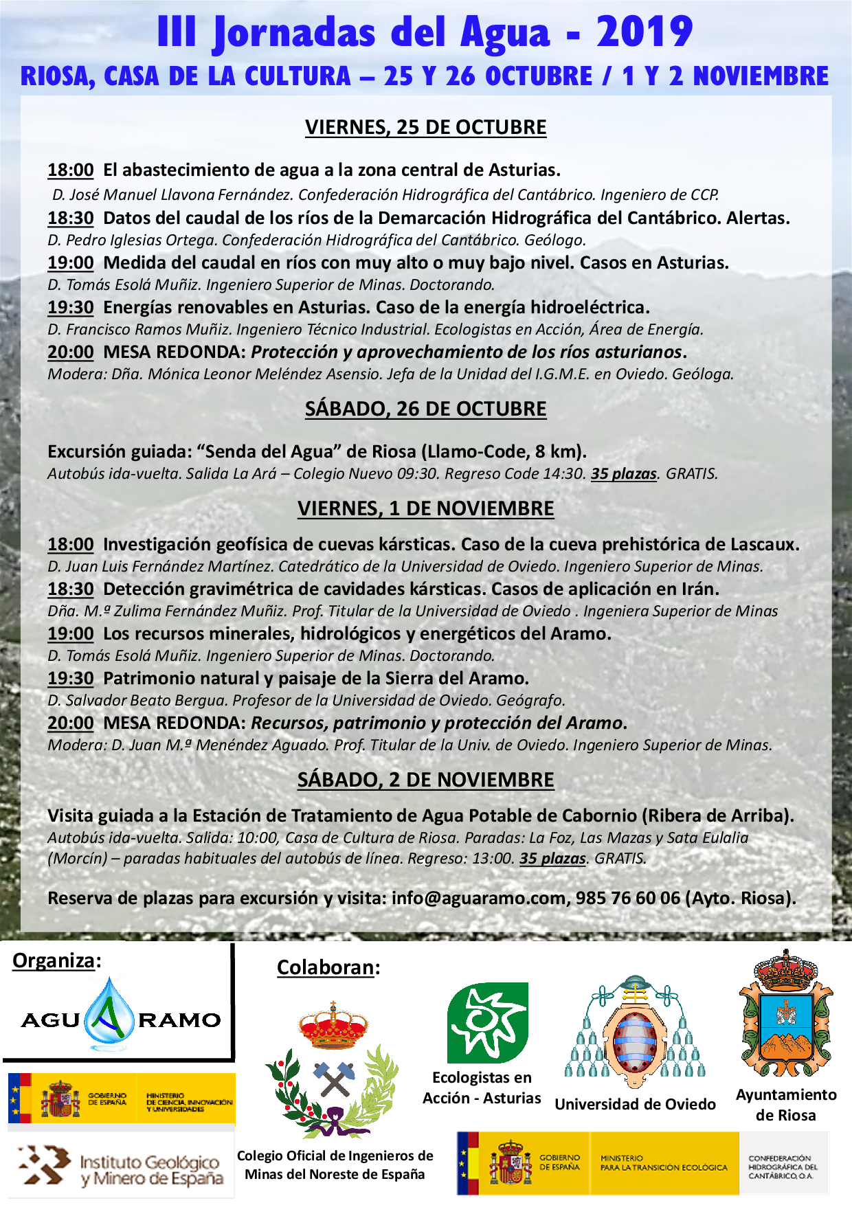 Cartel III Jornadas del Agua de Riosa (2019)