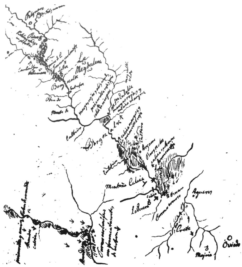 Viaje por Asturias (Guillermo Schulz, 1836-1843): Oviedo - Riosa